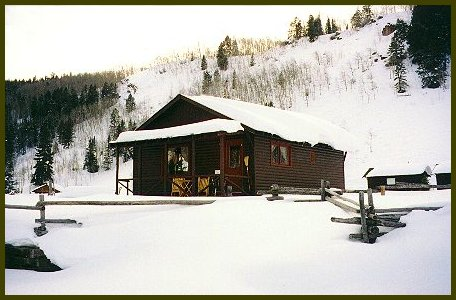 Guest rental cabin in the winter
